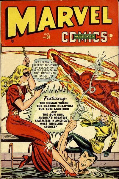 Vintage Marvel Mystery Comics #88 - Comic-Book Cover Art