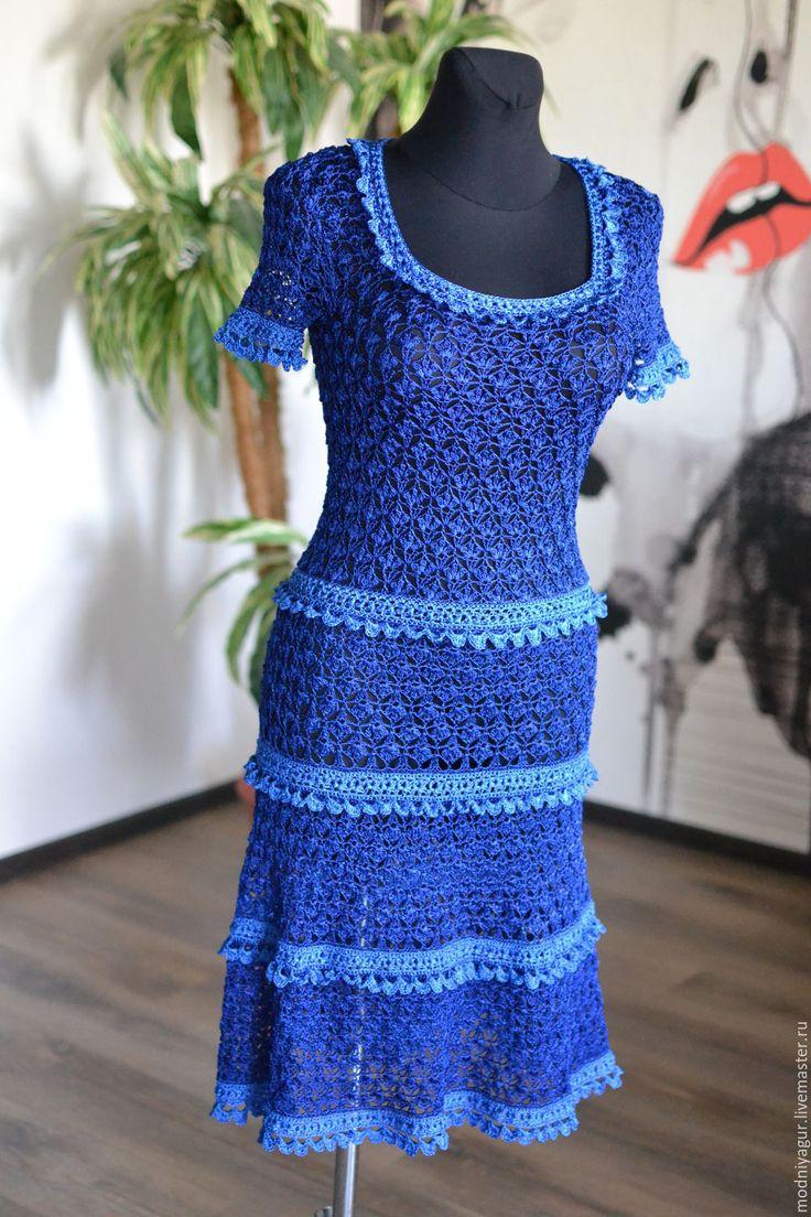 Купить платье Жасмин - тёмно-синий, Ванесса Монторо, жасмин, инна малюга, модный ажур