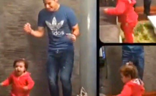 REAL MADRID GIRLS™: James Rodriguez teaches his daughter how to salsa (video).