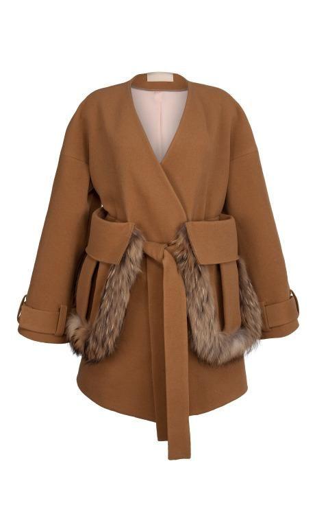 Camel Kimono Coat by Ruban for Preorder on Moda Operandi