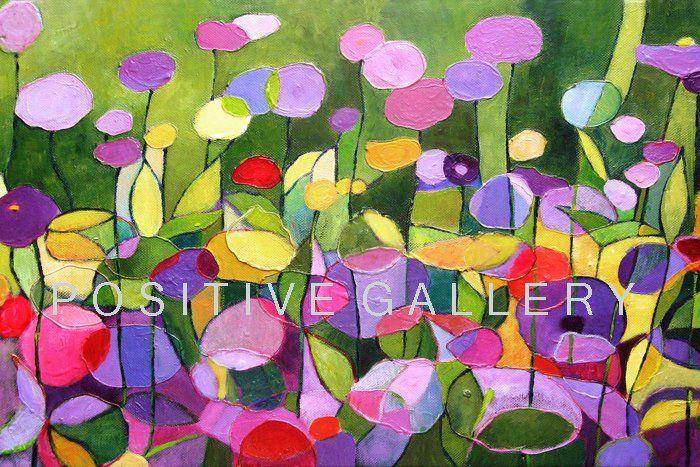 Kwiaty w ogrodzie (proj. POSITIVE GALLERY), do kupienia w DecoBazaar.com