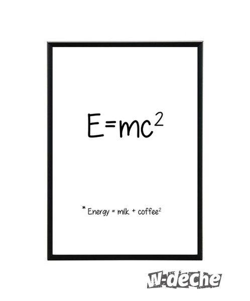 """Plakat """"E=mc2"""", A4 w W-deche na DaWanda.com"""