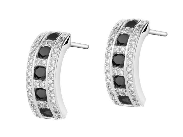 Kolczyki srebrne ze spinelem syntetycznym i cyrkoniami - wzór AP123-6960 / Apart