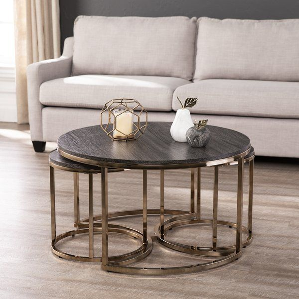 Everly Quinn Sleaford 3 Piece Nesting Tables Wayfair Nesting Tables Coffee Table Nesting Tables Living Room