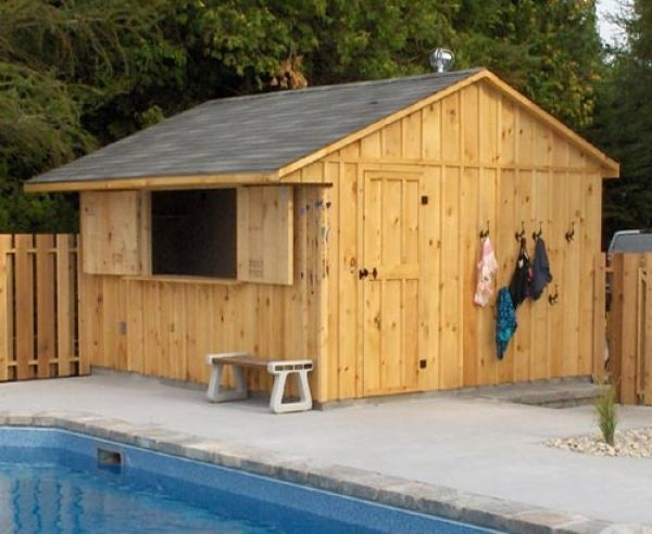 169 best images about outside poolside ideas on for Pool shed with bar plans