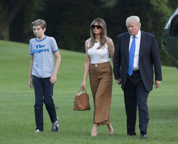 First lady Melania Trump stands by the President's tweets