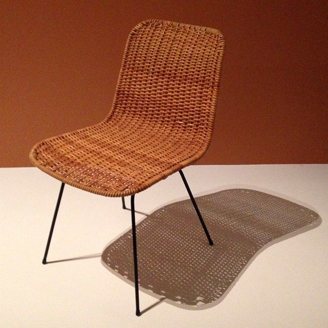 Simply gorgeous. Grant Featherston Cane-metal chair, 1954, one of many lovely discoveries and rediscoveries at Mid Century Modern - Australian Furniture Design @NGV #MidCenturyModernShelfie #houseandgarden