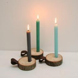 Houten kaarsen kandelaar | www.lieverkoekje.nl