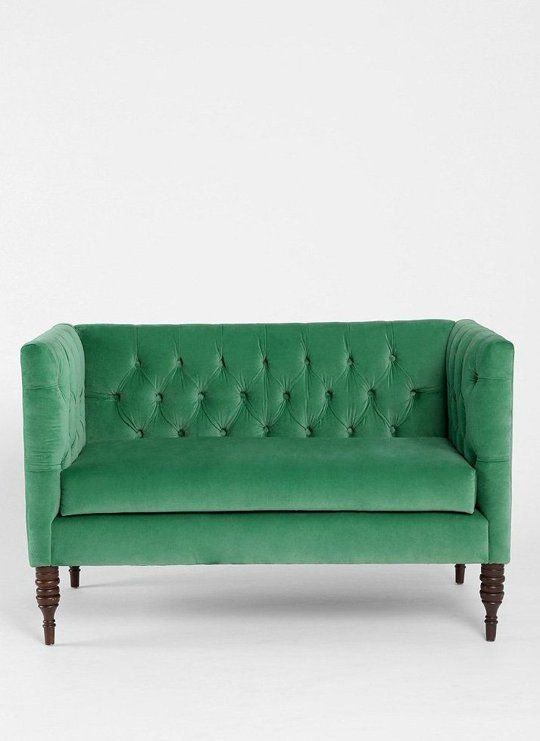 10 Stylish Sofas for Small Spaces | Apartment Therapy Plum & Bow Tufted Settee from Urban Outfitters