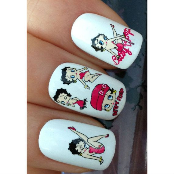 Betty Boop Nails: 10 Best Images About Nails I Luv Using Stickers.... On