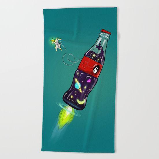 Bottleship 2 Beach Towel by Claudio Nozza Art   Society6