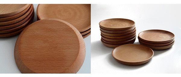 Placa de madera de aperitivo bandeja de aperitivos de Sushi tarde taza de té de la estera bandeja de platos