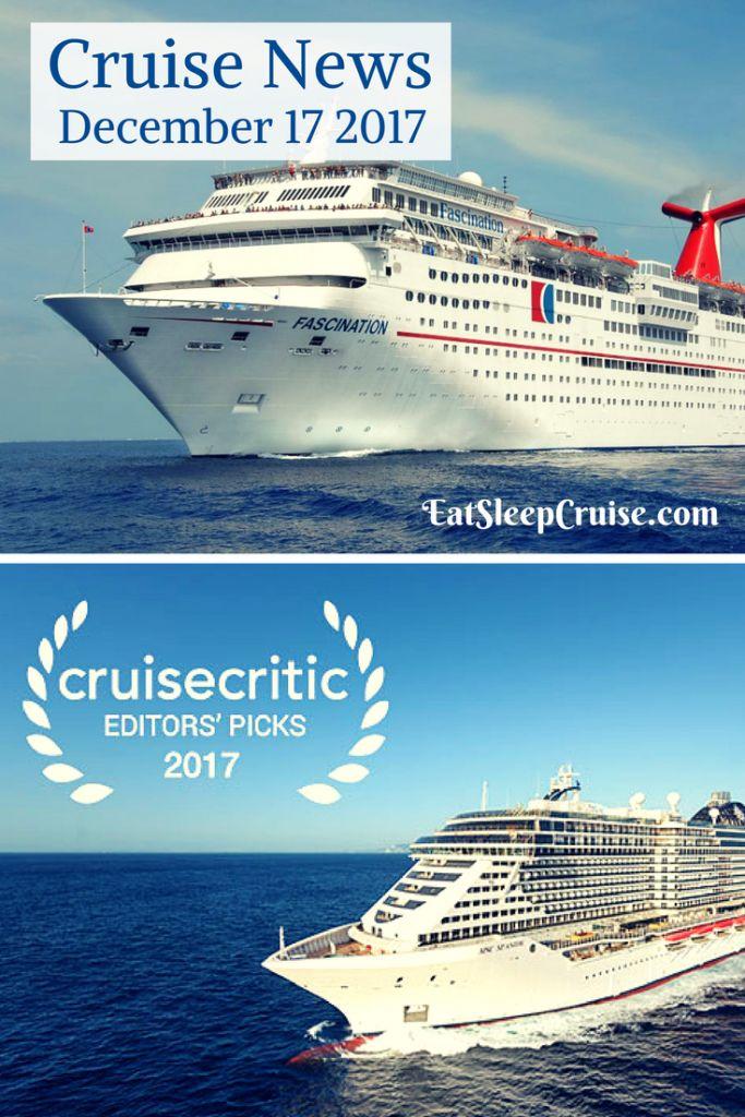 Cruise News December 17, 2017 #Cruise #CruiseNews