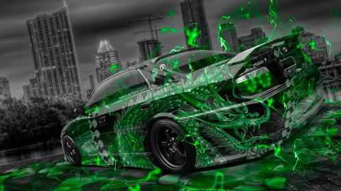 Toyota-Chaser-JZX100-TourerV-JDM-Tuning-Dragon-Aerography-City-Car-2015-Green-Neon-Effects-HD-Wallpapers-design-by-Tony-Kokhan-[www.el-tony.com]