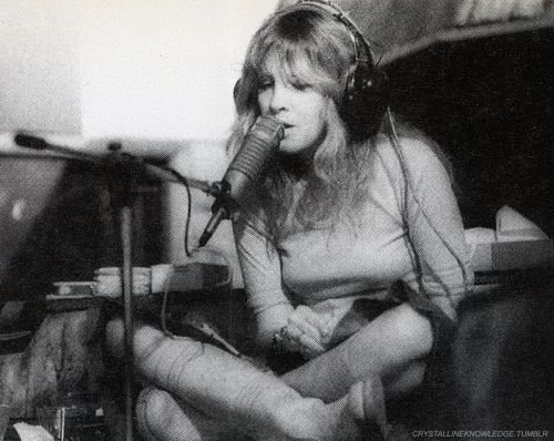 "Stevie Nicks, around the time ""Rumours"" was being recorded; 1976."
