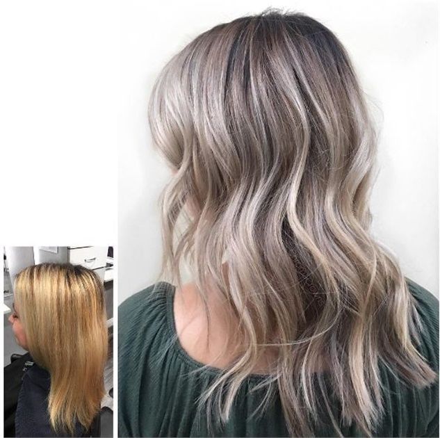 Warm To Cool Color Makeover For New Mom Hair Color Mom