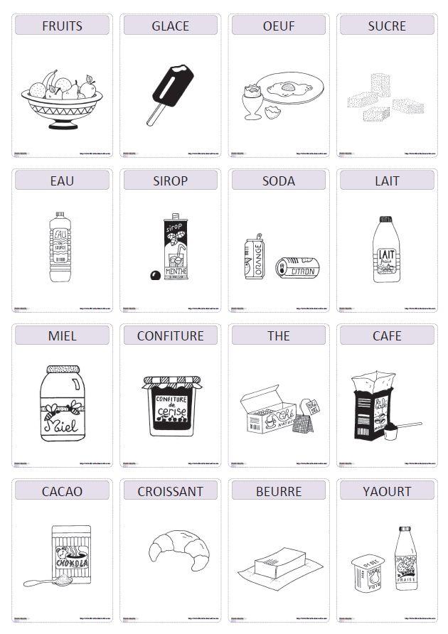 Un imagier thématique proposant 82 cartes et affiches avec les aliments.