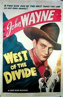 #51  West of the Divide -1934 American Western film starring John Wayne as Ted Hayden, posing as Gat Ganns, with Virginia Brown Faire as Fay Winters, & George 'Gabby' Hayes as Dusty Rhodes.