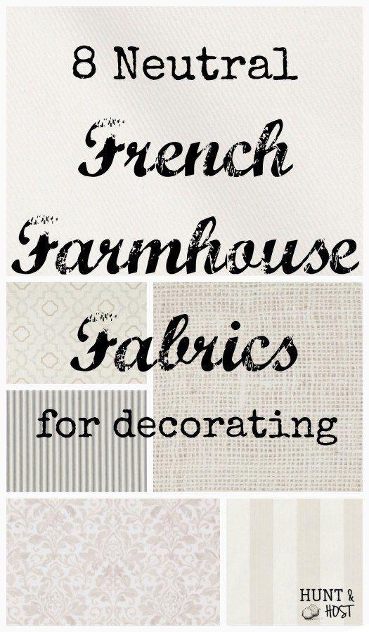 8 Neutral French Farmhouse Fabrics