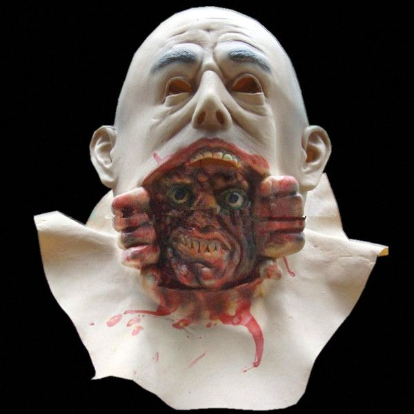 Demon Parasite Zombie mask horror masquerade party masks halloween mask latex realistic masquerade  mardi latex hood maske