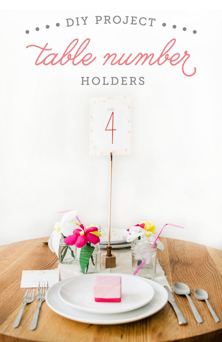 *DIY table number stand Paint it gold!