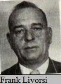 Frank Livorsi (1903-1967) aka Ceech started as a soldier in the Genovese family who served in capo Mike Coppolas crew. On other charts it seems he moved up to become a capo himself later on. Turncoat Valachi named him as one of the shooters of Joe Masseria, other crimes on his record were assault, homicide, narcotics and tax fraud. 3 of his daughters married big mafia names like Tom Dioguardi, Angelo Meli and Tom Ormento. He was a dominating mafia leader, director and financier of the…
