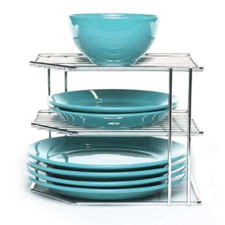 многоярусная подставка для тарелок в кухонный шкаф