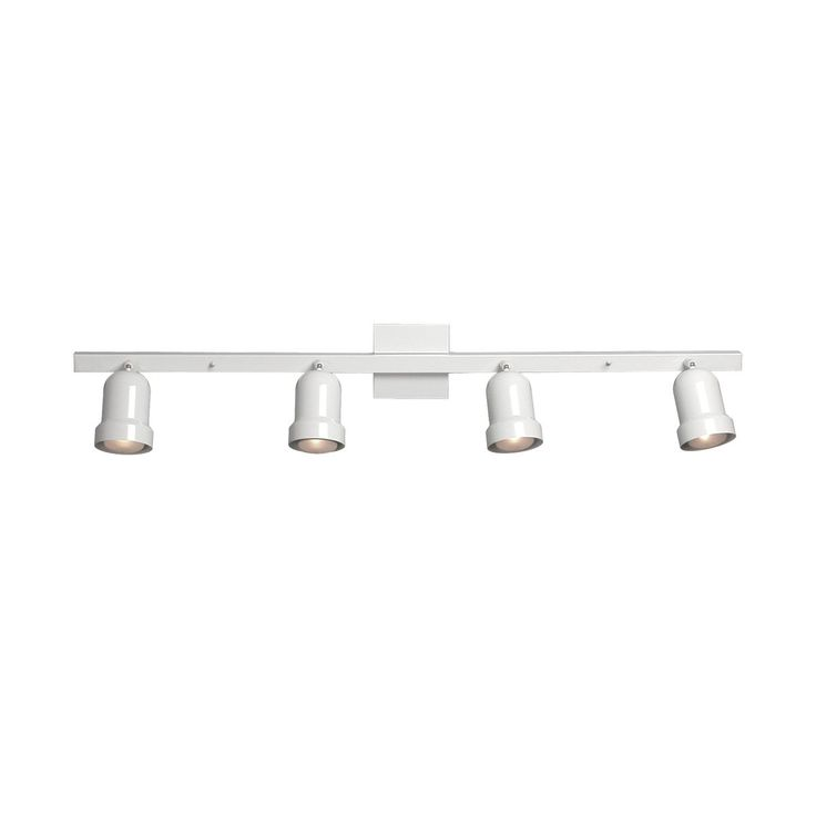 Shop Galaxy Lighting 766304 4 Light Fixed Track Halogen Directional Spot At Lowes Canada Find Our Selection Of Lights The