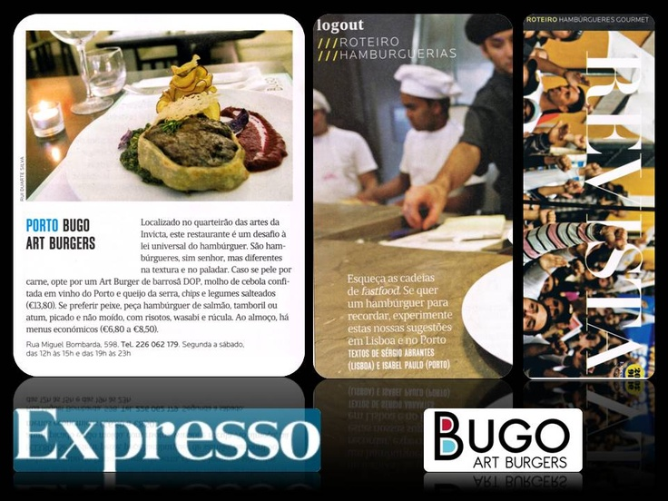 """Bugo in """"Expresso"""", one of the most distinguished newspapper in Portugal."""