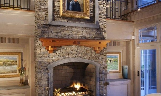 Dry Stacked Stone Fireplace, Awesome Stone Fireplaces