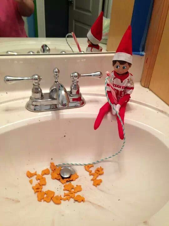 Zaccheus goes candy cane ,gold fishing! From Aunt Jojo.
