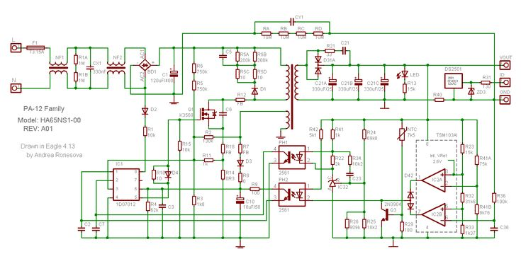 Laptop Adapter Circuit Diagram