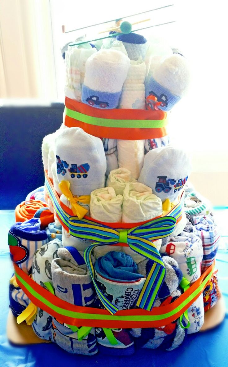 Car & Airplane clothing and diaper cake