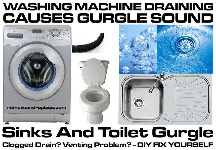 Washing Machine Draining Causes Sinks And Toilet To Gurgle How To Fix Washing Machine Washing Washer Machine