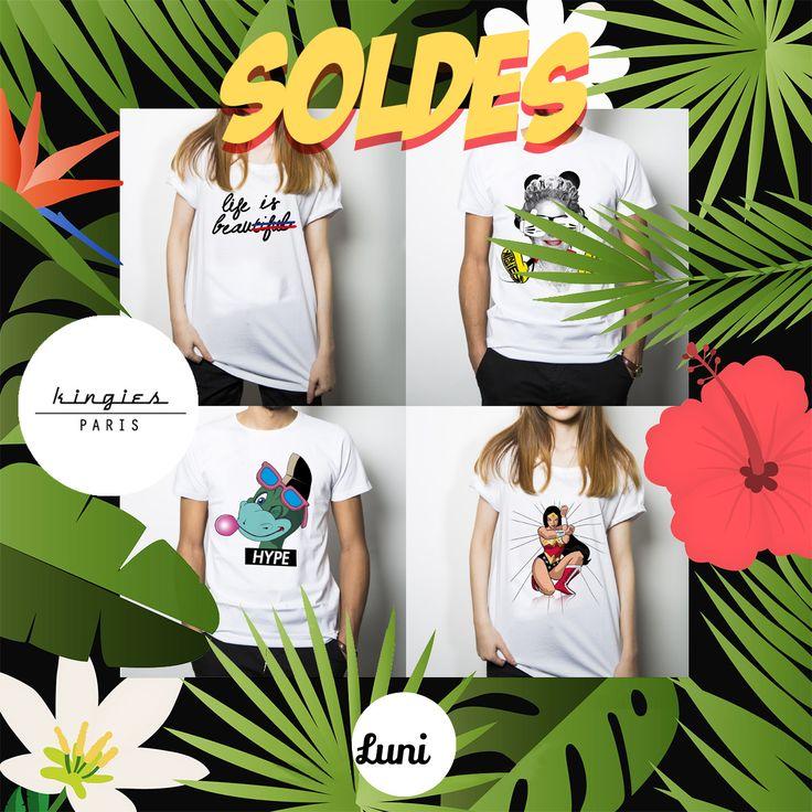 Les soldes des créateurs Français sont sur Luni !!! 🇫🇷Kingies paris en promo 👇 http://luni.fr/promotions.html?manufacturer=1500 👉 Lien des soldes sur le profil  #soldes #soldes2017 #tshirt #shopping #summer #lunifr #tendance #modefemme #modehomme #createurFrancais #luni #lunifr #soldesete #teeshirt #t-shirt #kingies #kingiesparis #paris #france #beautiful #denver #hype #wonderwoman #mickey #queen #sales #teeshirts