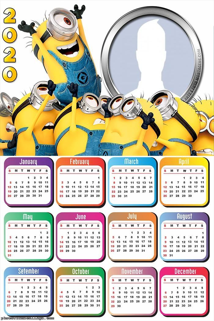 Minions Calendar 2020 Frames For Pictures Free Calendar 2020 Minions Calendar