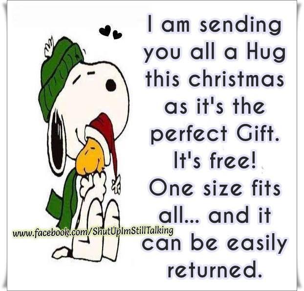 Snoopy ~ Sending You A Christmas Hug
