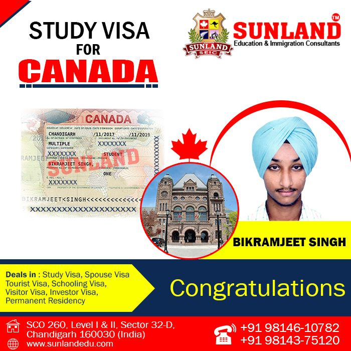 #Congratulates to #Bikramjeet #Singh on getting #Study #Visa for #Canada  Through #SUNLAND #EDUCATION & #IMMIGRATION #CONSULTANTS, #CHANDIGARH. Contact us at:- SCO - 260, Sector 32-D, #Chandigarh http://sunlandedu.com +91 98146 10782 +91 98143 75120 +91- 98551 58431