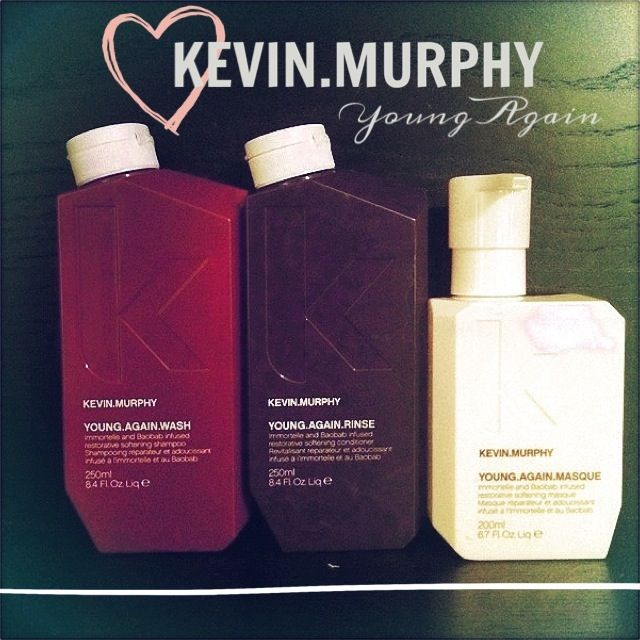 Magic in a bottle. Well... 3 bottles. Kevin Murphy Young Again wash, rinse and masque.