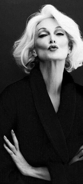 Carmen Dell'Orefice,  worldwide model since 1946, still modeling at age 80+.                                                                                                                                                                                 More