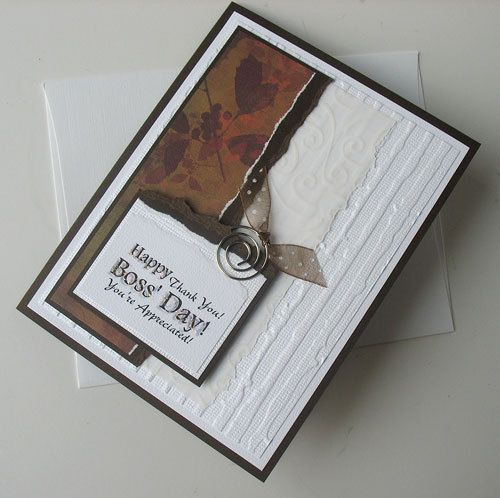 Boss Day Greeting Card: Handmade Blank Note Card - Happy Boss Day. $2.50, via Etsy.