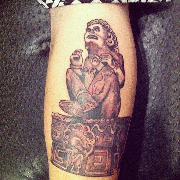 Xochipilli tattoo on victor navarro bassist of tribal for Tattoos richmond va