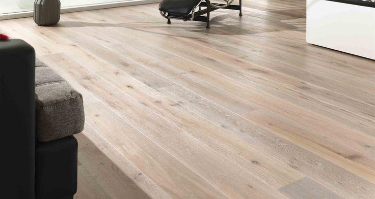 Natural Oak wood floor.
