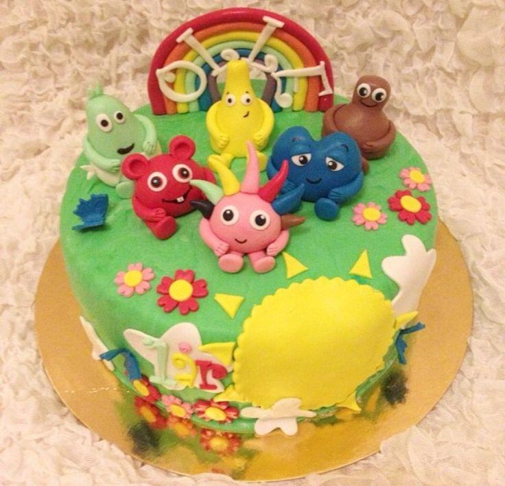 Som jag berättat tidigare blir det en Babblarna tårta till sonen iår så i väntan på att sockerpastan ska komma hem så letar jag runt lite inspiration för tårtan