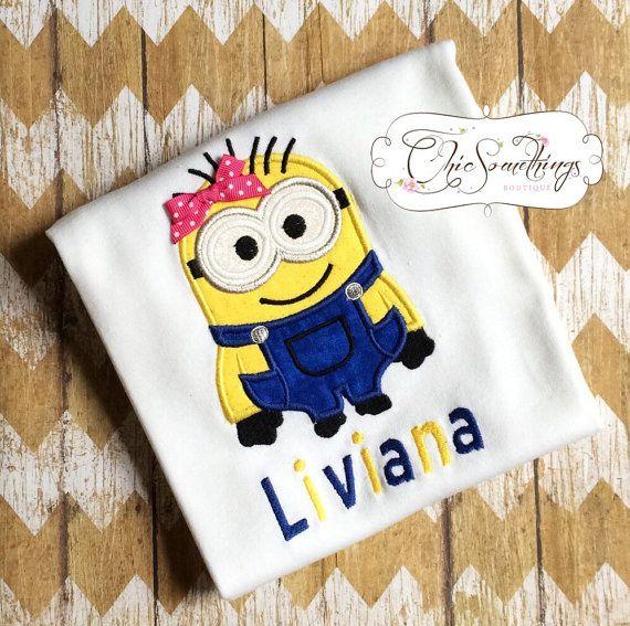 minion shirt minion minion tutu girl minion by ChicSomethings
