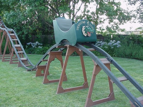Big Roller Coaster In Backyard : homemade roller coaster  Home Ideas  Pinterest  Roller Coasters