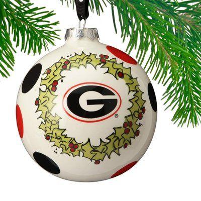 Georgia Bulldogs Deck The Halls Ornament