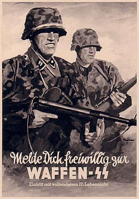 "Poster Divisione ""Charlemagne"" delle Waffen-SS - Germania Militaria - German Militaria"