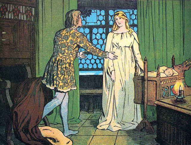 'Scholz Künstler-Bilderbücher: Brüderchen und Schwesterchen' (Brother and Sister), published 1904 and illustrated by Franz Müller-Münster.