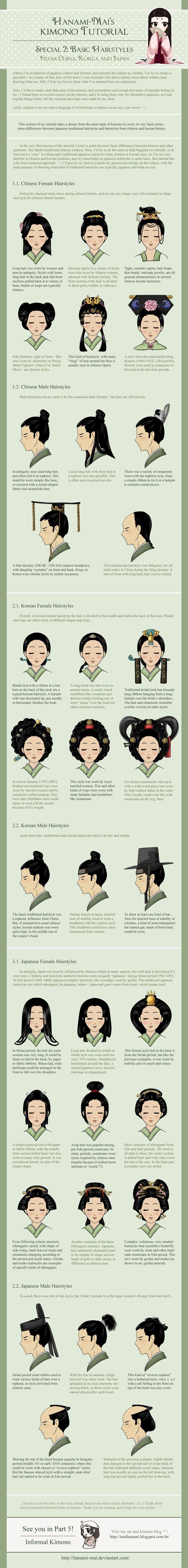 Kimono Tutorial - Hairstyles Special by Hanami-Mai on DeviantArt